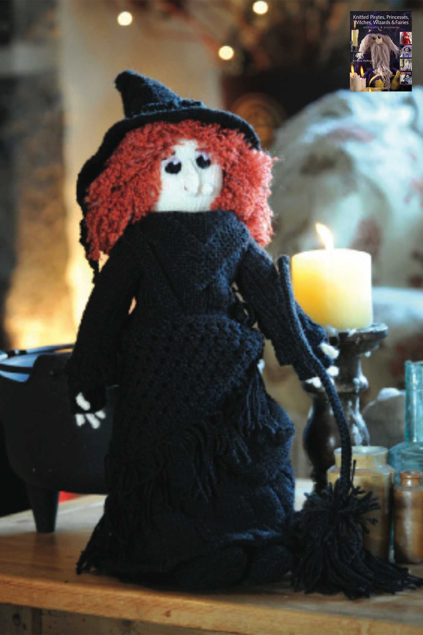 Elizabeth Knitted Witch Knitting Pattern – The Knitting Network