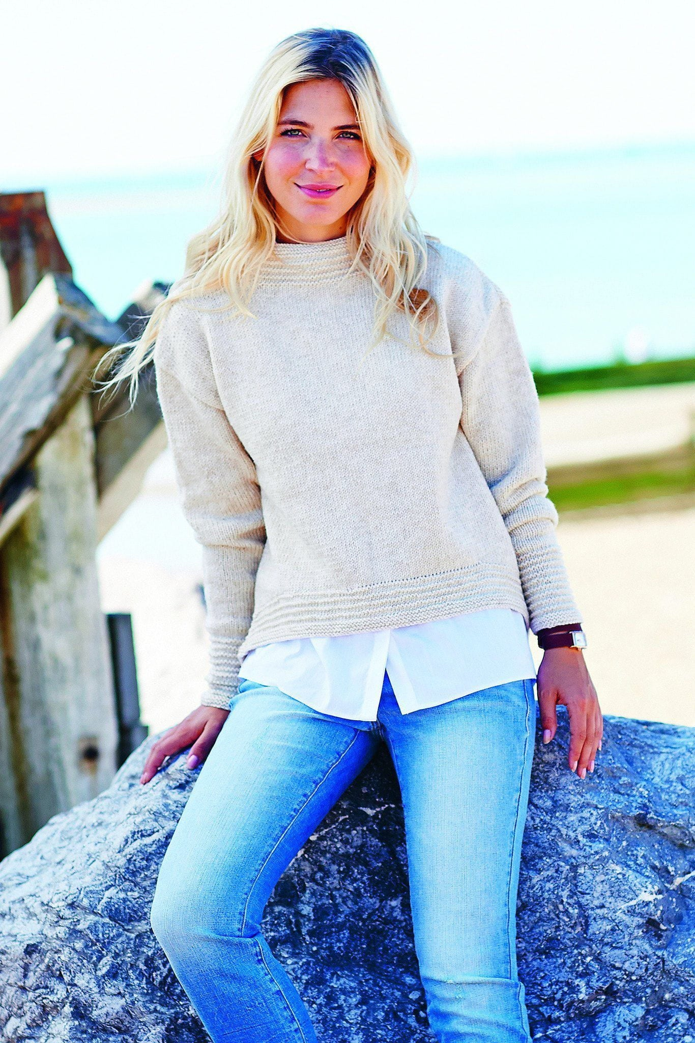 Womens Boat-Neck Jumper Knitting Pattern – The Knitting Network
