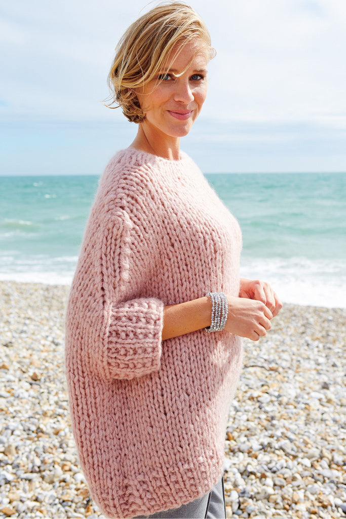 Knitting Patterns For Larger Ladies : Womens Oversized Jumper Knitting Pattern   The Knitting Network