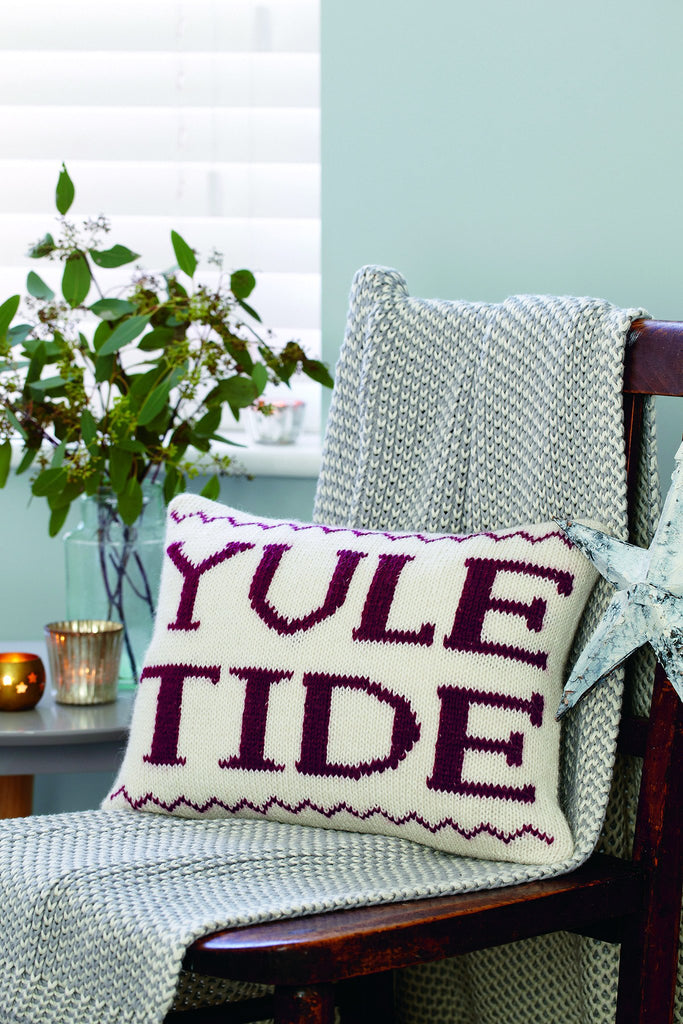 Yuletide Christmas Cushion Knitting Pattern   The Knitting Network