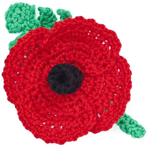 Poppy Brooch Crochet Workshop - For Beginners to Intermediates