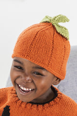 Childs knitting pattern for a pumpkin hat