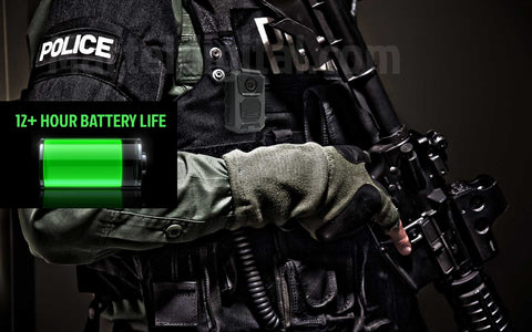 Police body camera battery life 8 hours