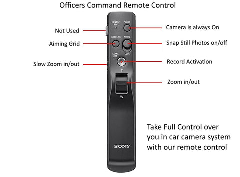 Police Dash Cam system record remote controller