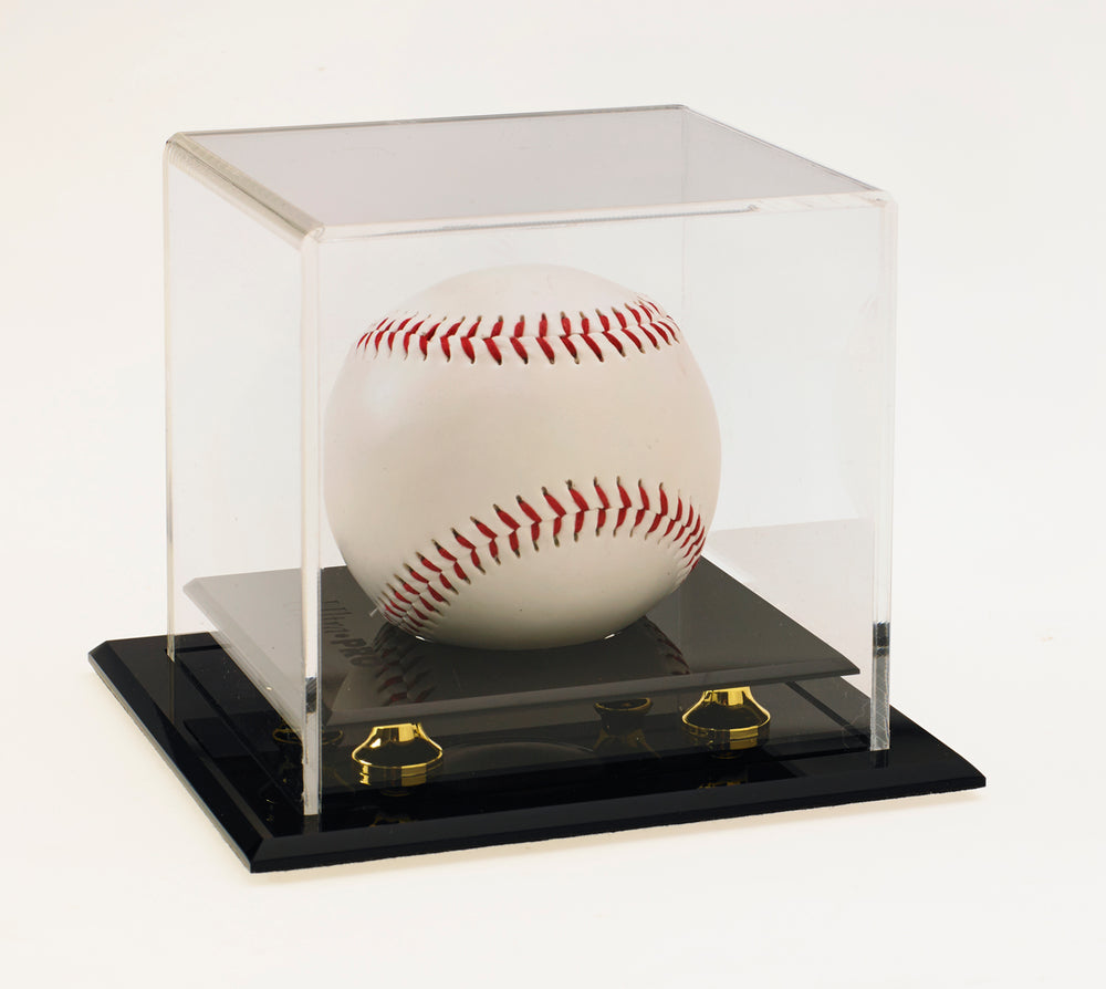 Baseball Holder with Gold Risers