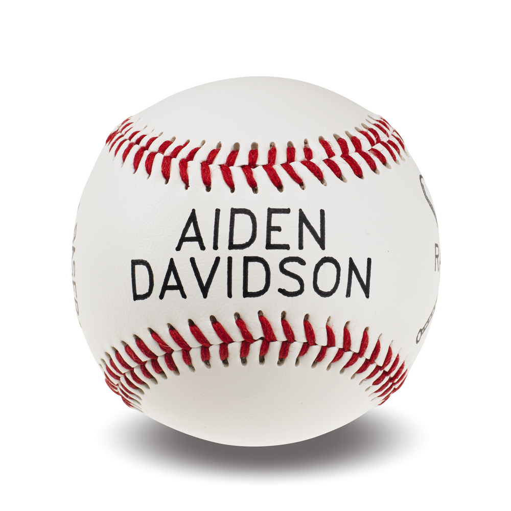 Custom Printed Baseball | Crossed Bat Graphic