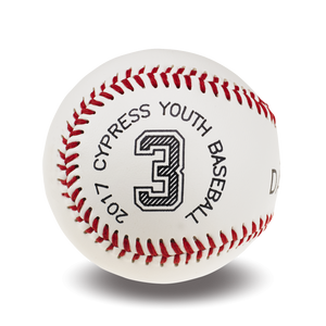 Custom Printed Baseball | Jersey Number and League Details