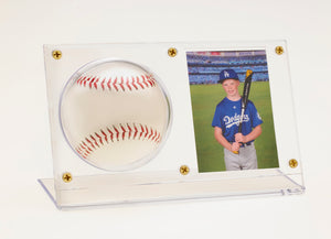 Baseball & Card Holder