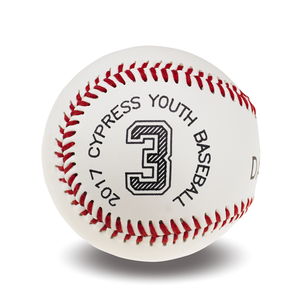 Customized Baseball | Jersey Number and League Info