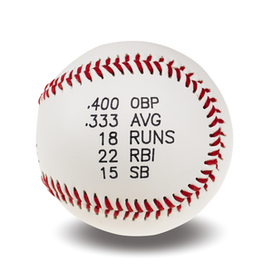Custom Printed Baseball | Player Statistics