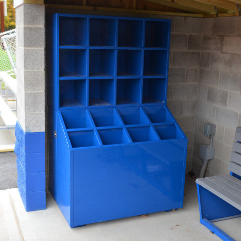 Premium All-Weather Bat & Helmet Storage Unit