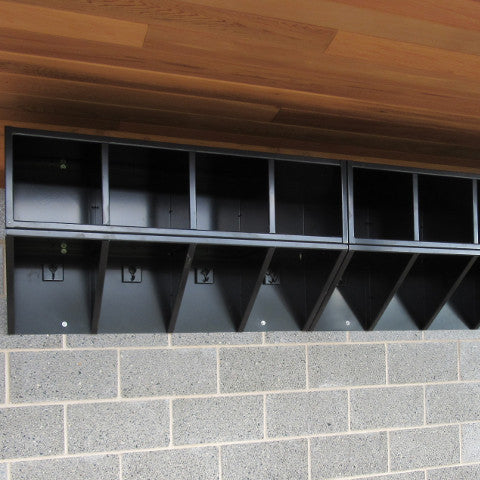 All-Weather Helmet Cubby & Coat Rack Unit