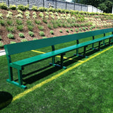 Aluminum Team Bench with Backrest
