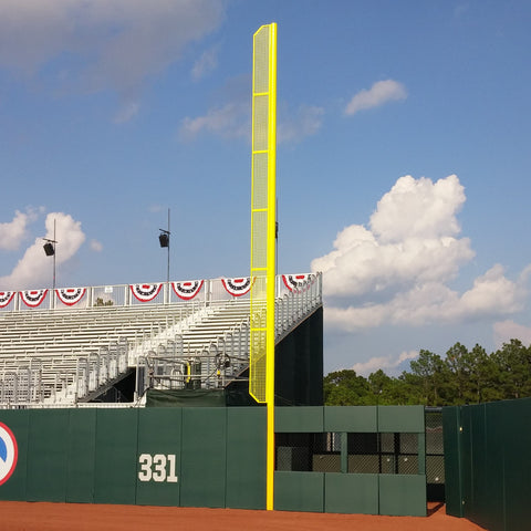 Baseball / Softball Foul Poles with Mesh Wing