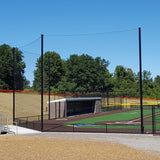 Baseball / Softball Pole-to-Pole Tension Backstop Netting System