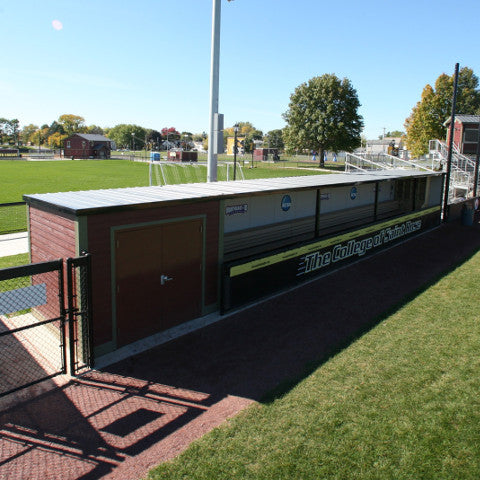 Enclosed Modular Dugout Sportsfield Specialties Direct
