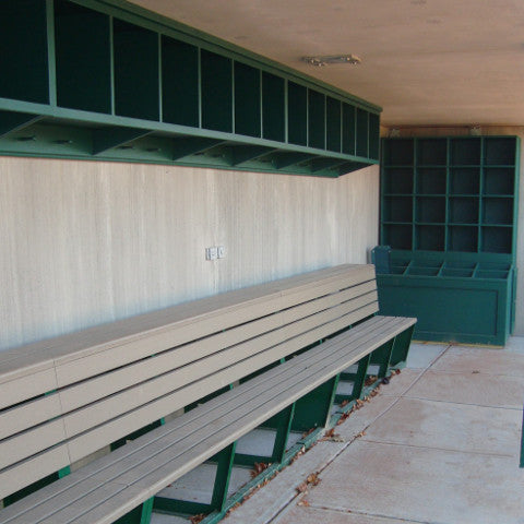 Polyboard Two-Tier Team Bench