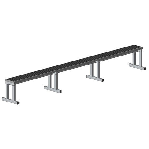 Aluminum Backless Team Bench