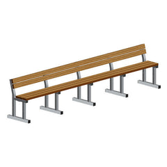 Polyboard Team Bench with Backrest - SSI Direct