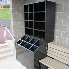 Premium All-Weather Bat & Helmet Storage Unit - SSI Direct