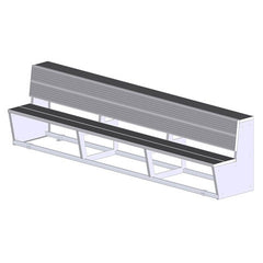 Aluminum Two-Tier Team Bench - SSI Direct