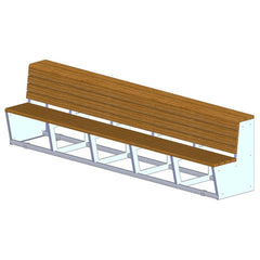 Polyboard Two-Tier Team Bench - SSI Direct