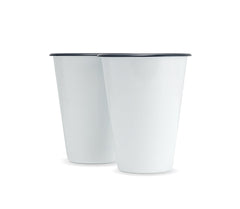 W&P Enamel Cocktail Tumblers-Grayers