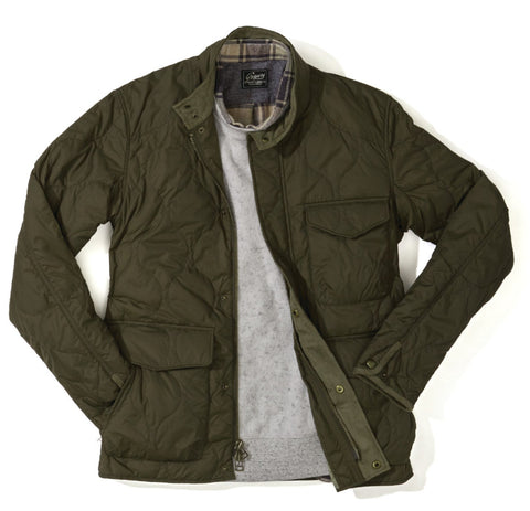 Reston Light Weight Quilted Jacket Olive Grayers