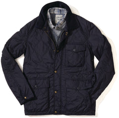 Andrew Light Weight Quilted Jacket - Navy-Grayers