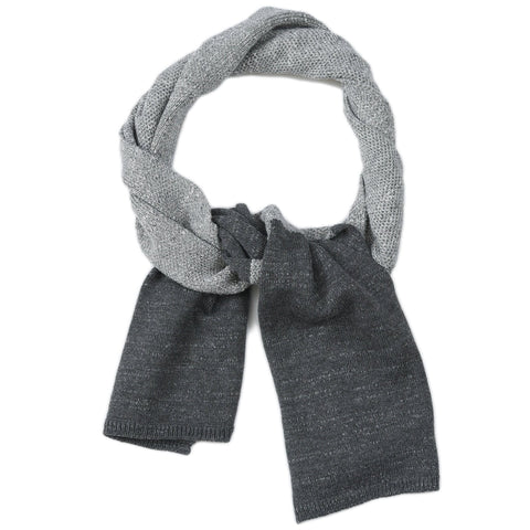 Textured Block Scarf - Gray Heather / Lt Charcoal-Grayers