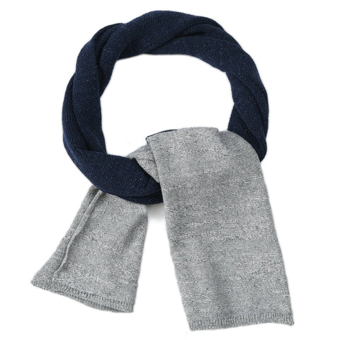 Textured Block Scarf - Navy/Gray Heather-Grayers