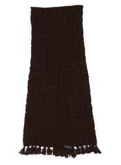 Cotton Wool Cable Scarf - Chocolate Marl