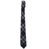 Drummond Cotton Tie - Navy Gray Plaid
