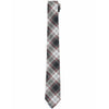 Orson Plaid Cotton Tie - Black Gray Red Plaid