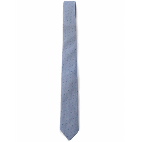 Paxton Printed Cotton Tie - Blue Print