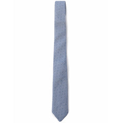 Paxton Printed Cotton Tie - Blue Print-Grayers