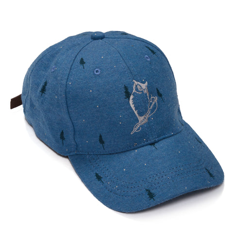 Cotton Baseball Cap - Bluesteel Pine Print