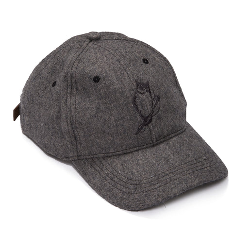 Owl Wool Baseball Cap - Gray Heather-Grayers