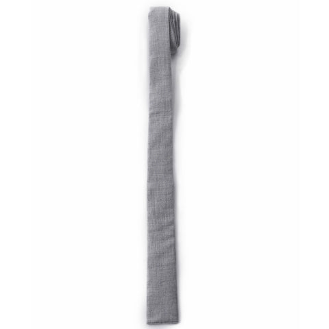 Chester Cotton Tie - Gray Herringbone