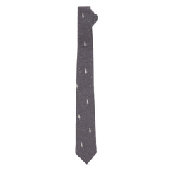 Dartmouth Printed Tie - Charcoal Pine Print-Grayers
