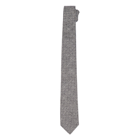 Lockhart Printed Tie - Charcoal Print-Grayers