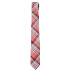 Sandover Neck Tie - Peach Red Plaid-Grayers