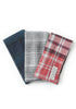 Flannel Pocket Squares (3 in 1) - Mixed Plaid-Grayers