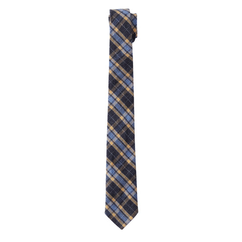 Tartan Heritage Neck Tie - Charcoal / Gold Plaid
