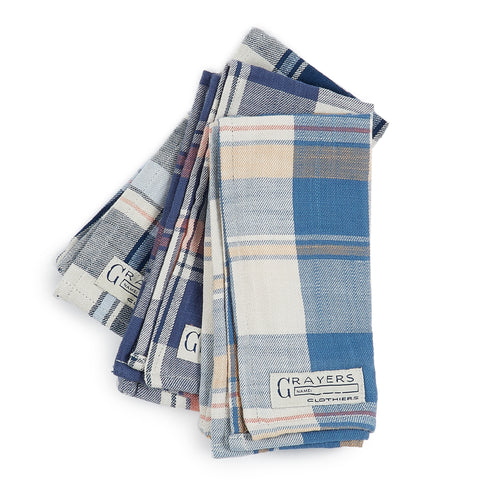 Pocket Squares - Multi Color Plaids