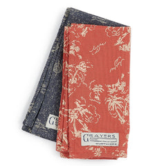 Pocket Squares - Red & Blue Prints-Grayers