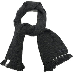 Wadsworth Wool Linen 1/2 Cardigan Scarf - Charcoal