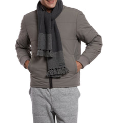 Joseph Color Blocked Scarf - Charcoal / Gray-Grayers