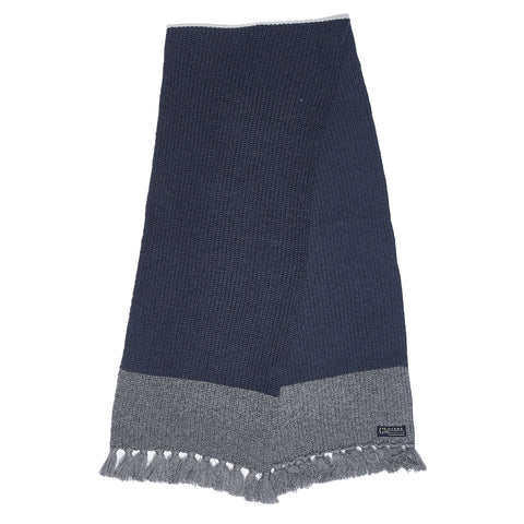 Joseph Color Blocked Scarf - Navy / Blue-Grayers