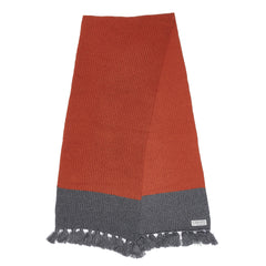 Joseph Color Blocked Scarf - Burnt Orange / Gray-Grayers